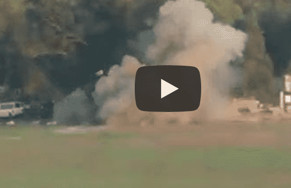 O momento em que o míssil antitanque do Hamas atingiu o ônibus dos soldados.