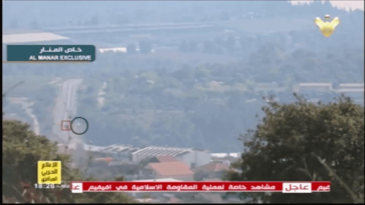 """A rede """"El Manar"""" da organização terrorista Hezbollah divulgou o vídeo dos ataques de ontem contra Israel."""
