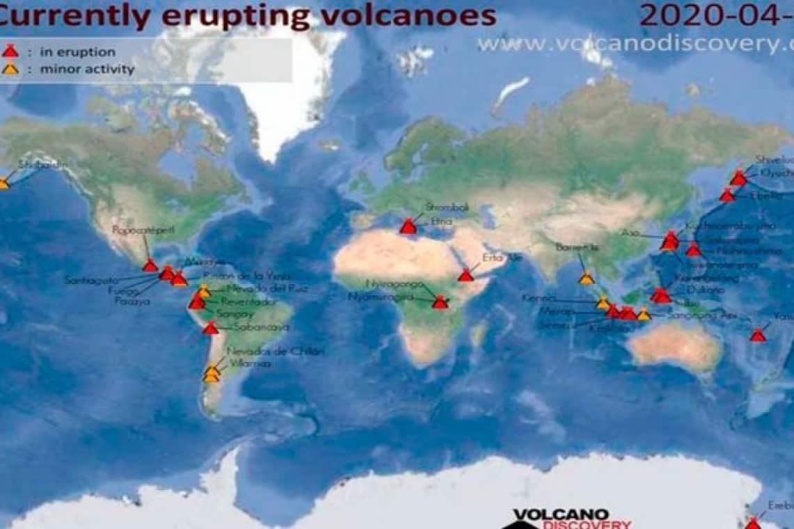 15 vulcões em todo o mundo entraram em erupção!