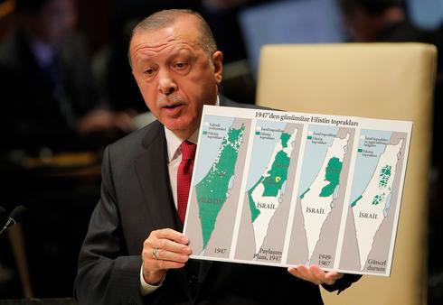 Presidente turco promete proteger os palestinos contra a anexação de Israel