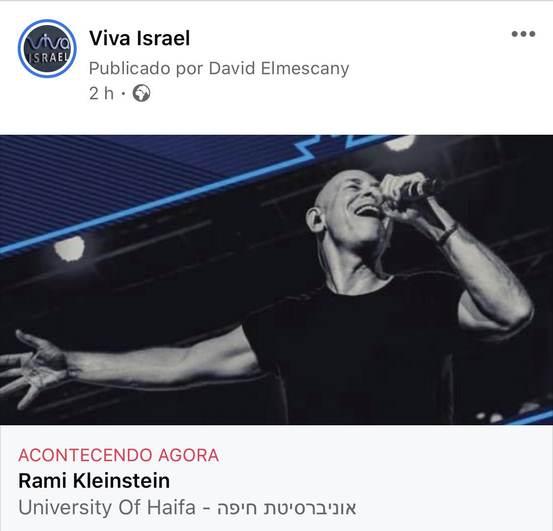Rami Kleinsten AO VIVO