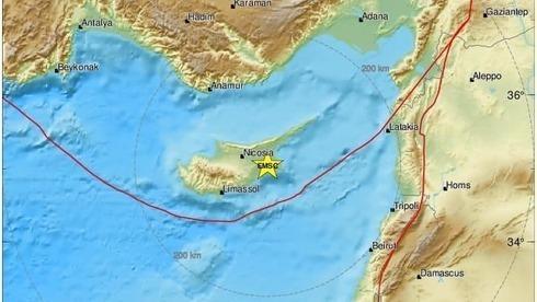 Terremoto ocorrido ontem no Chipre foi sentido em Israel